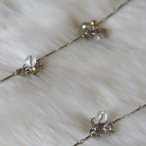 Ann Taylor LOFT Cluster Stone and Chain Necklace
